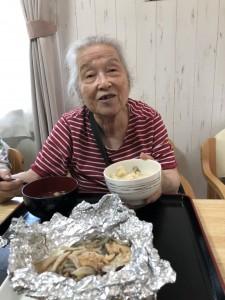 2018.9.5栗御飯と鮭チャンチャン焼_15
