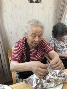 2018.9.5栗御飯と鮭チャンチャン焼_10