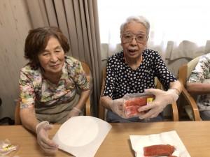 2018.9.5栗御飯と鮭チャンチャン焼_3