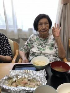 2018.9.5栗御飯と鮭チャンチャン焼_16