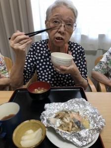 2018.9.5栗御飯と鮭チャンチャン焼_17