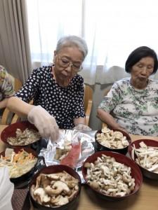 2018.9.5栗御飯と鮭チャンチャン焼_8