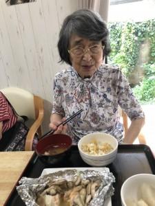 2018.9.5栗御飯と鮭チャンチャン焼_13