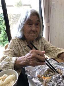 2018.9.5栗御飯と鮭チャンチャン焼_12