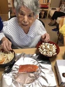 2018.9.5栗御飯と鮭チャンチャン焼_7