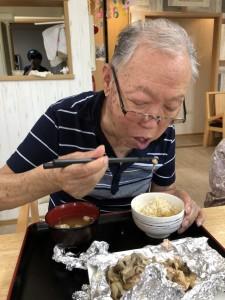 2018.9.5栗御飯と鮭チャンチャン焼_14