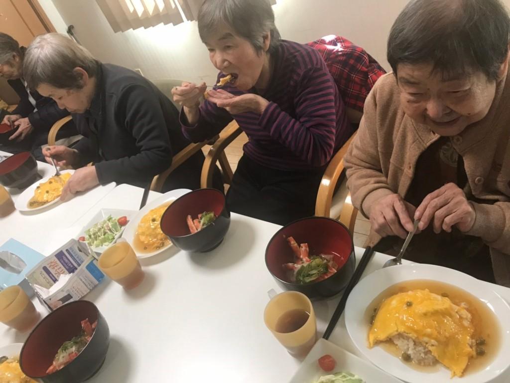 カニしゃぶ 食事2