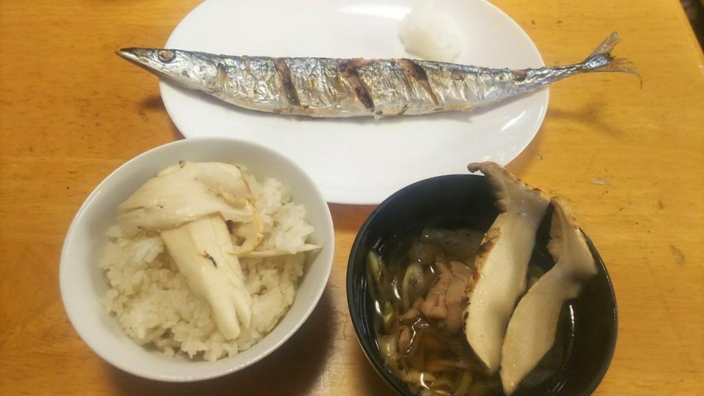 食レク✨サンマと松茸御膳 インサート